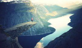 Fjord, Norwegen, Alleinreisende