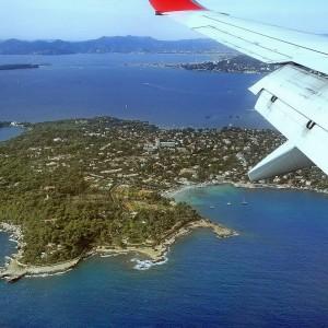 Frankreich, Côte d'Azur, Flug, Flugzeug, Landung
