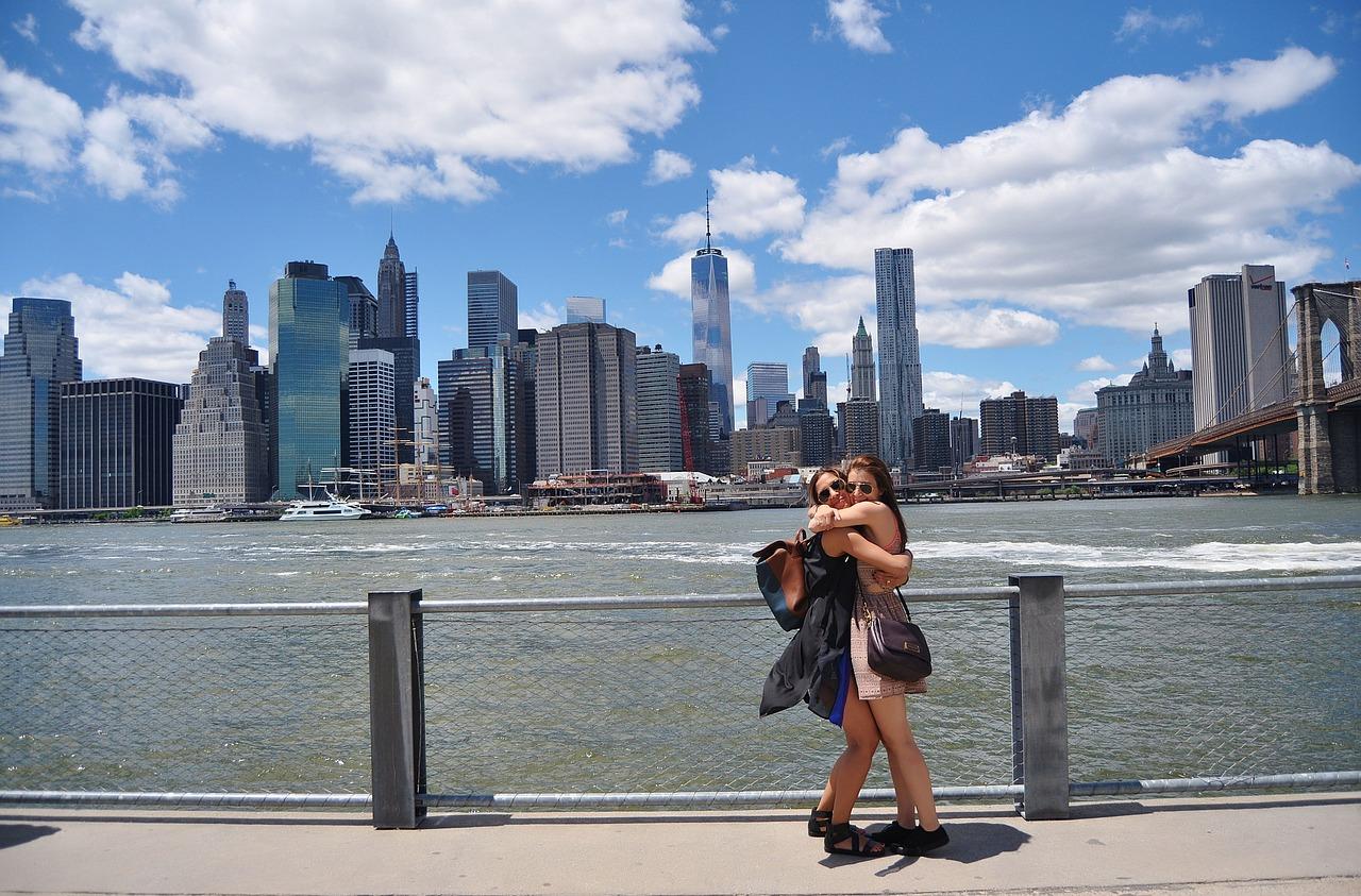 New York, Mädchen, Freundinnen
