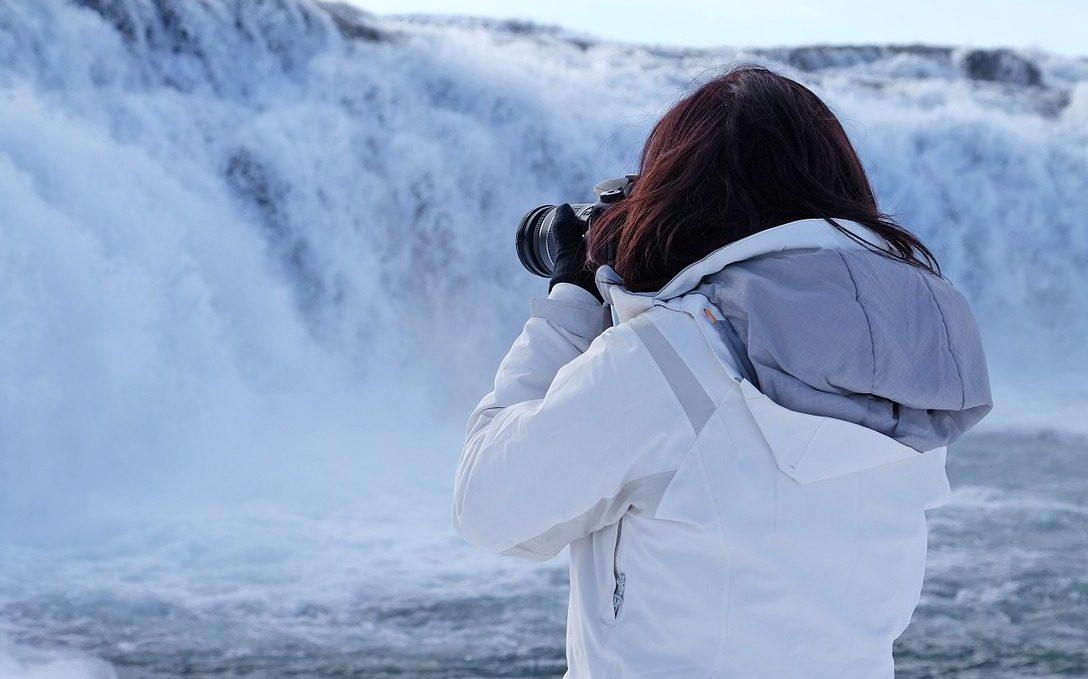 Island, Reykjavik, Frau, Foto, Kamera