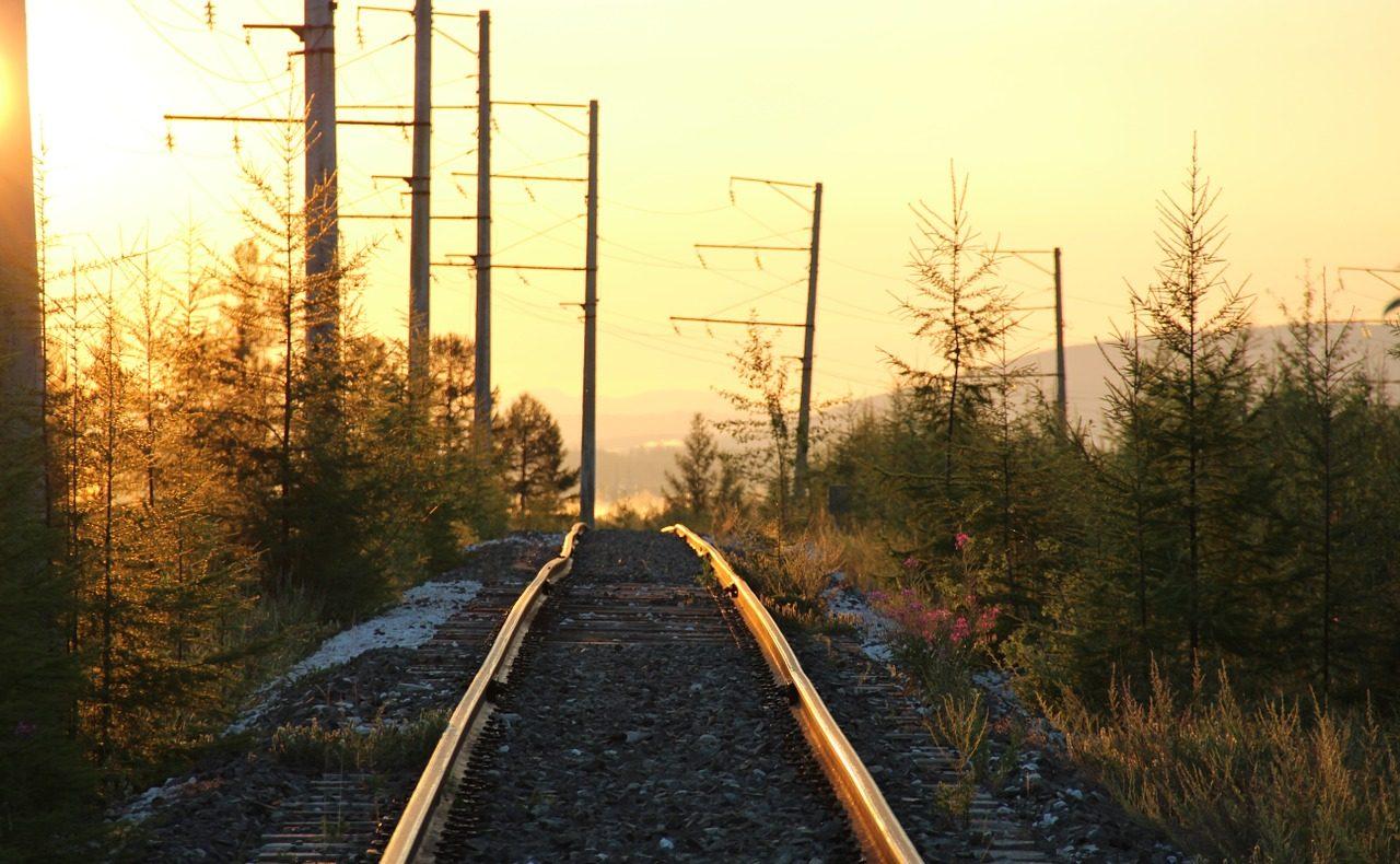 Russland, Zug, Gleis, Bahn