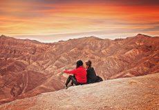 Death Valley, USA, Junge Reisende, Alleinreisende, Freunde, Mitreisende