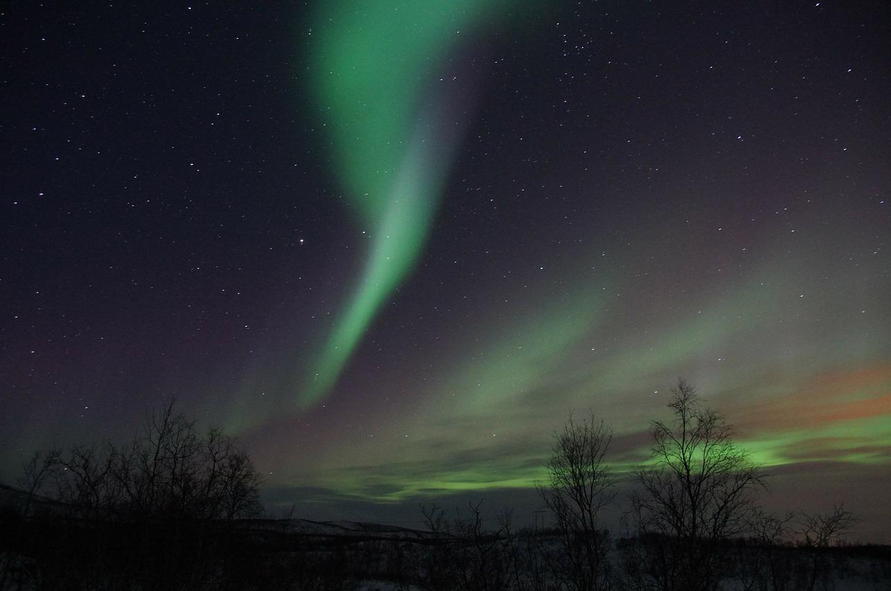Lappland, Nordlicht, Winter