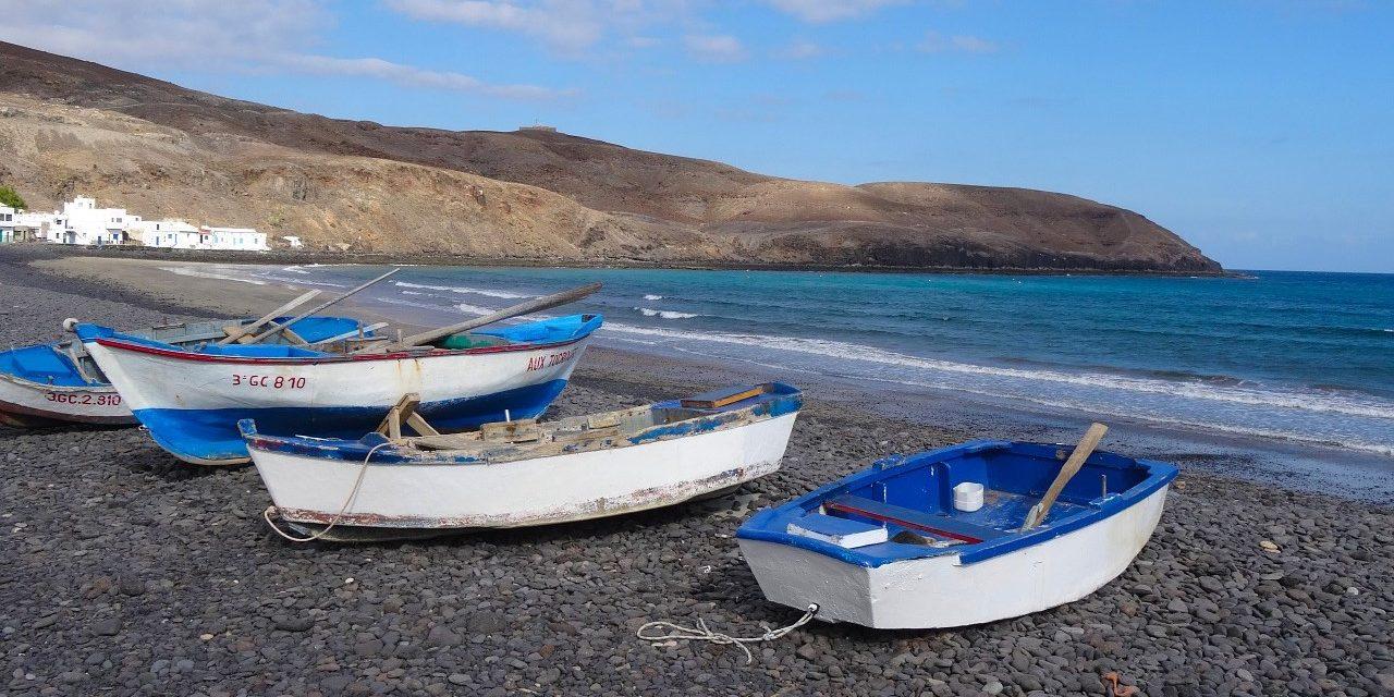 Fuerteventura, Strand, Boote, Breitbild