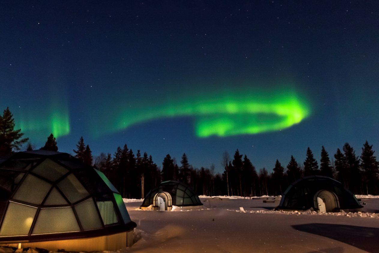 Glasiglu Finnland, Lappland (Bild © Kakslauttanen Arctic Resort)