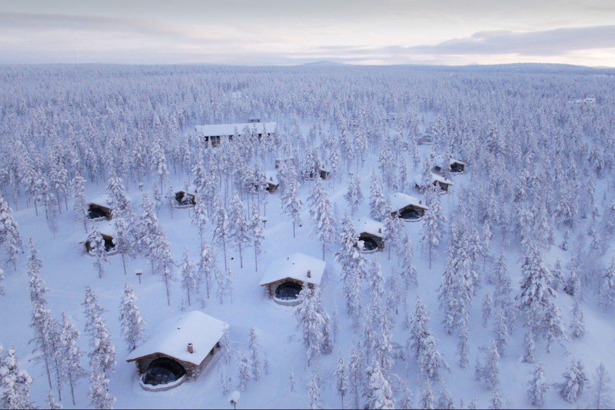 Hütten Finnland, Lappland (Bild © Kakslauttanen Arctic Resort)