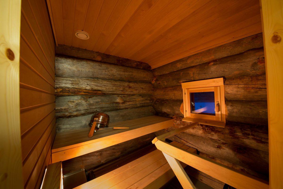 Sauna Finnland, Lappland (Bild © Kakslauttanen Arctic Resort)