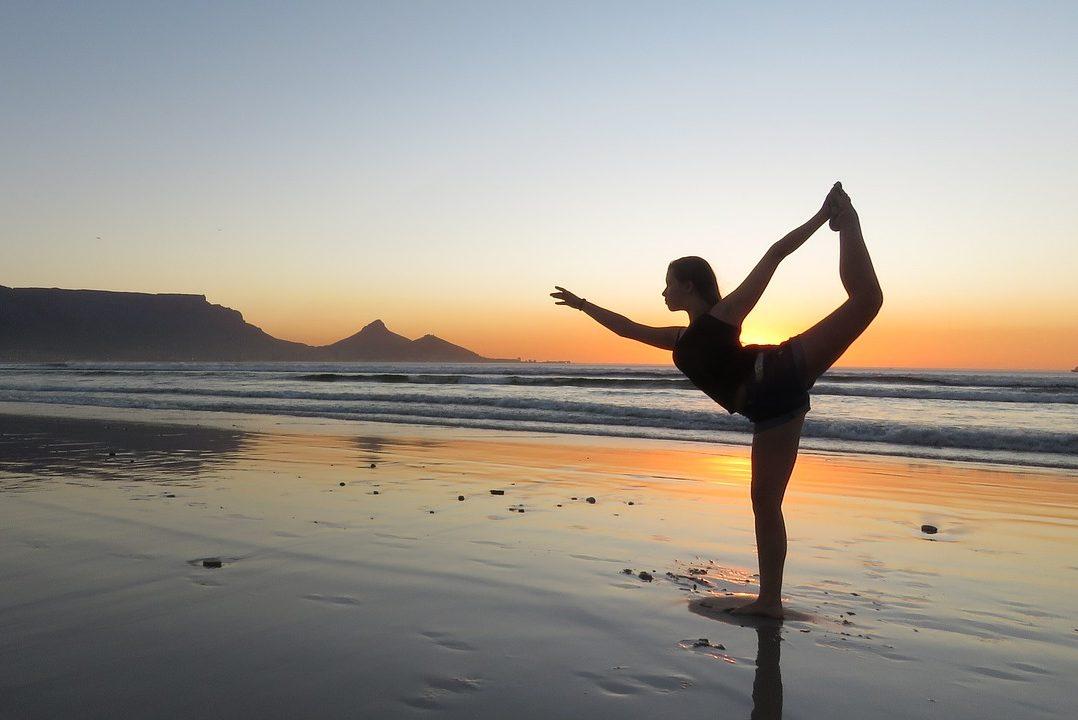 Yoga, Reisende, Strand