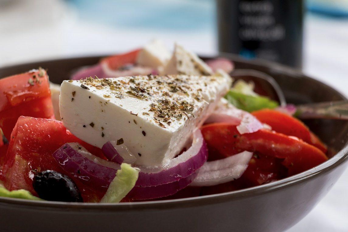 Griechenland, Essen, Schafkäse, Salat