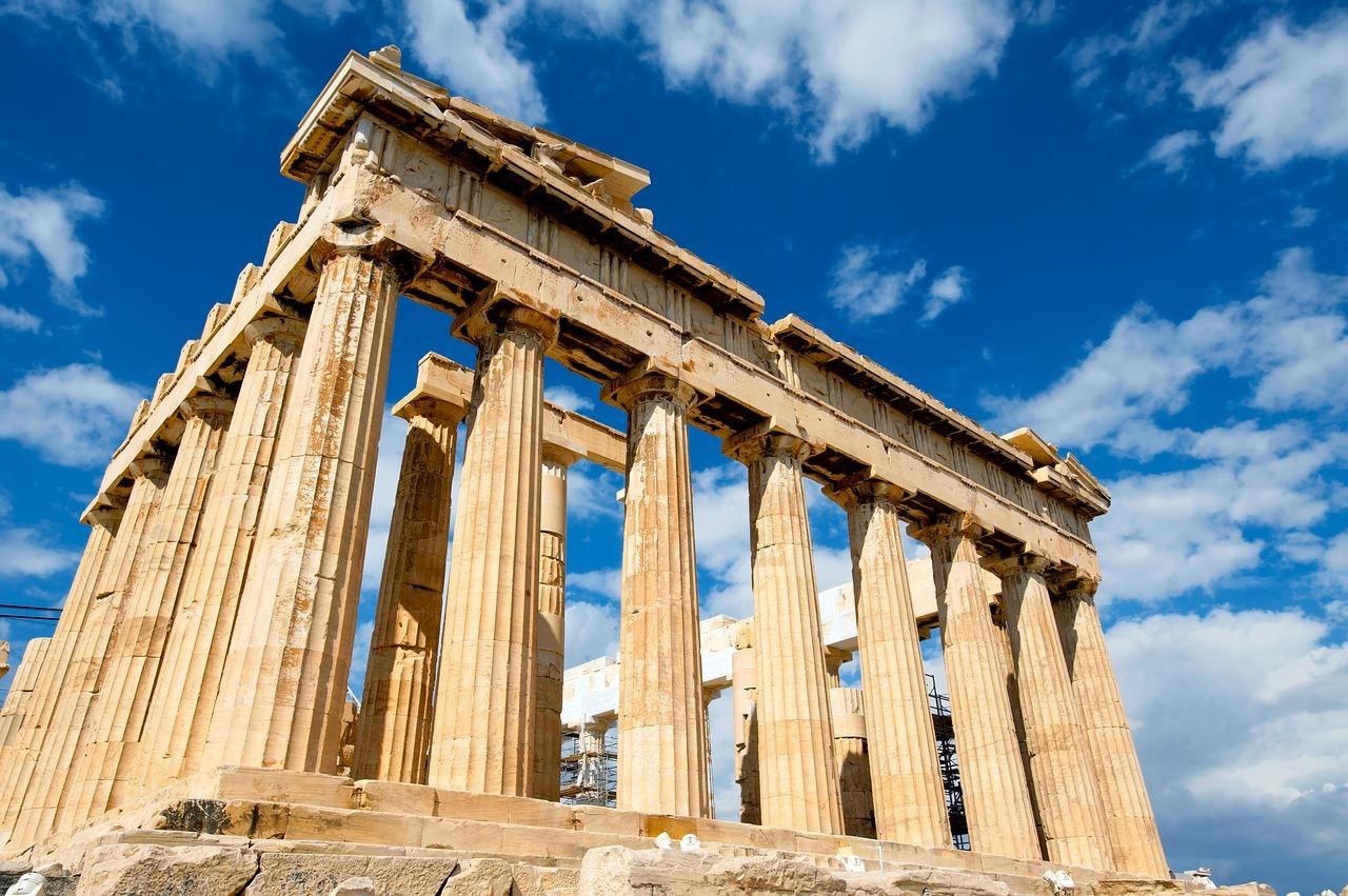 Griechenland, Tempel, Säulen, Ruine