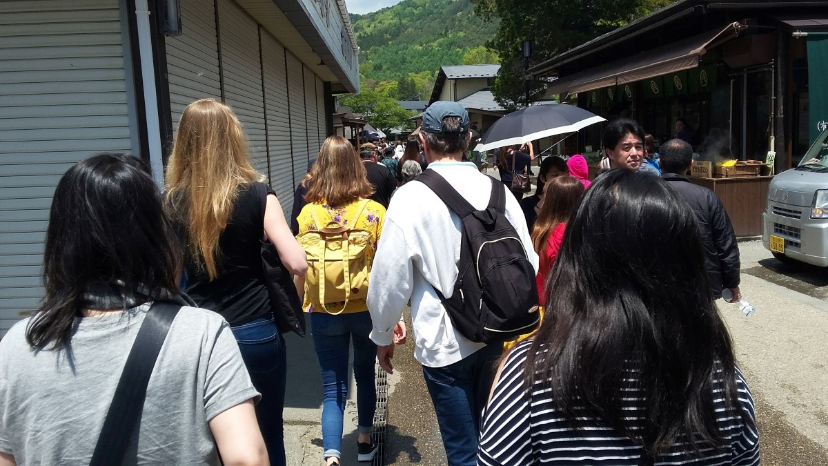 Gruppe beim Ausflug zum Fuji-san