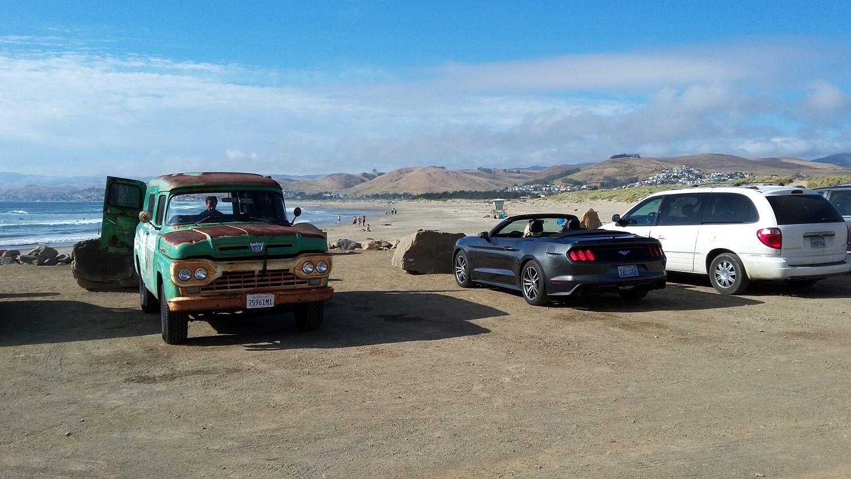 Parkplatz bei Strand in Morro Bay