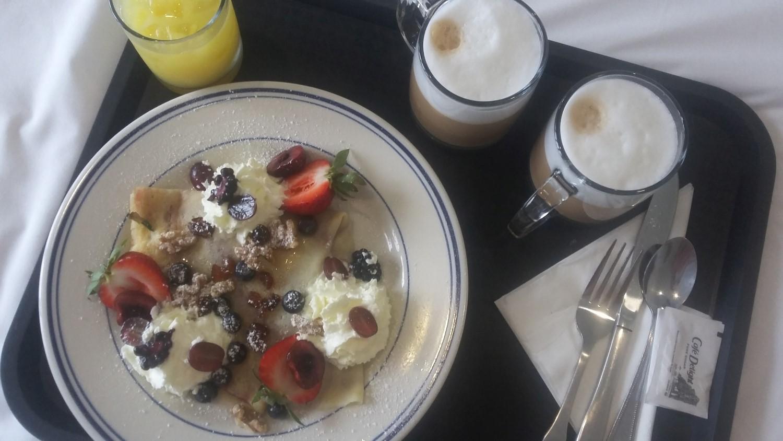 Frühstück im Motel in Morro Bay