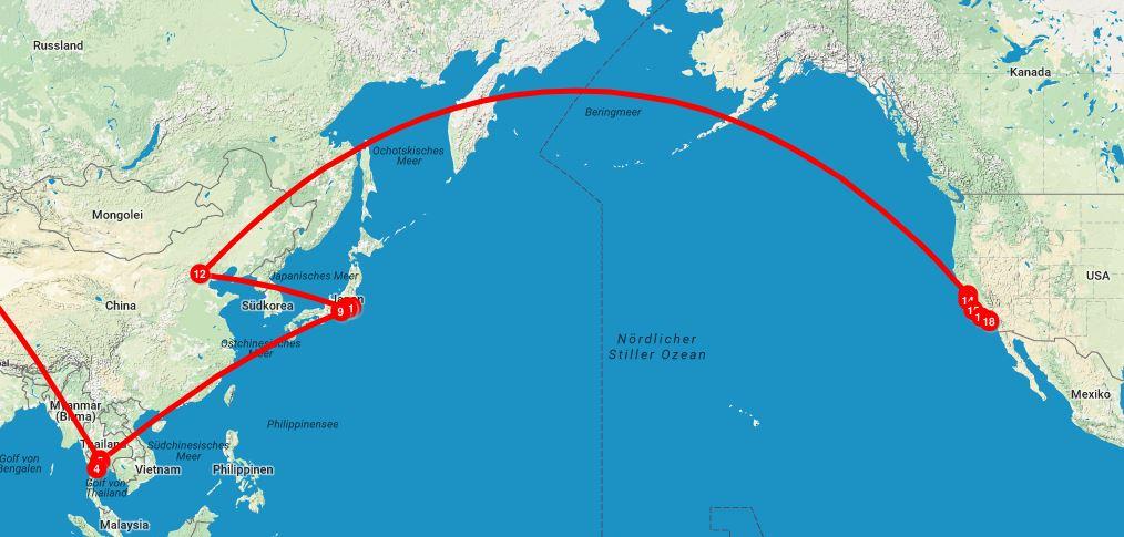 weltreise-anreise-japan-usa_kartendaten_copyright_google