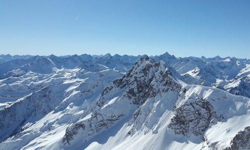 Österreich, Tirol, Berge, Winter, Schnee, Gipfel