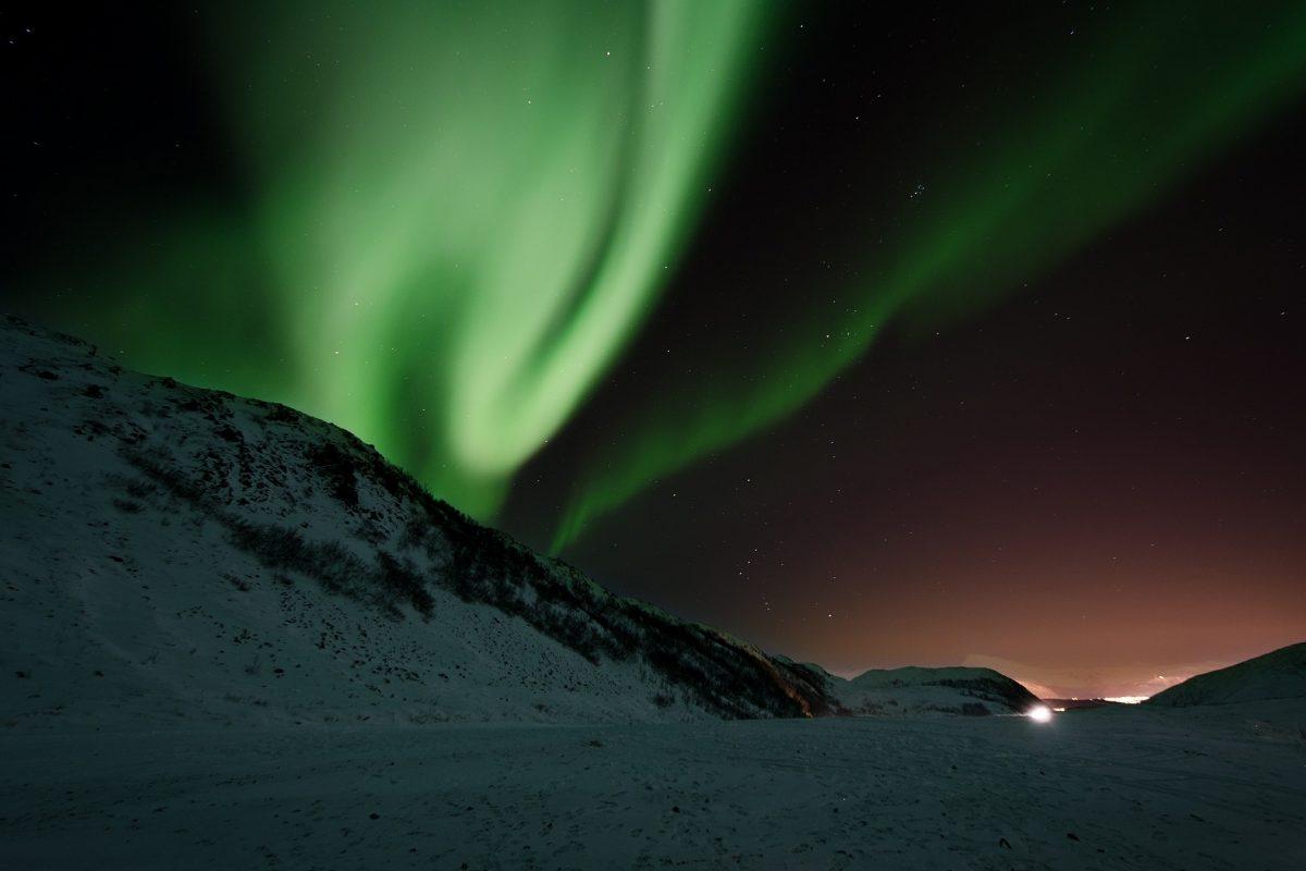 Norwegen – Norway, Nordlicht, Nordlichter, Aurora, Polarlicht, Schnee, Winter, Nacht