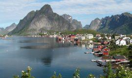 Norwegen – Norway, Dorf, Meer, Küste
