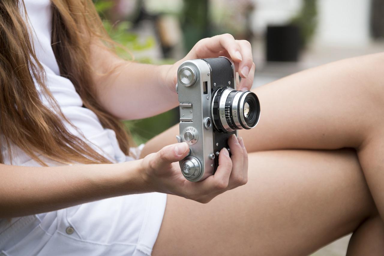 Reisende mit Kamera