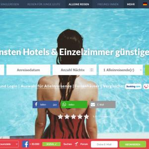 Solo Travel Hotelsuche (Screenshot 2021-09)